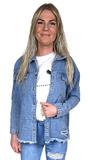 Spijker jas Filou blauw