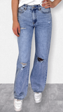 Flared Mom fit Jeans Sienna Blauw