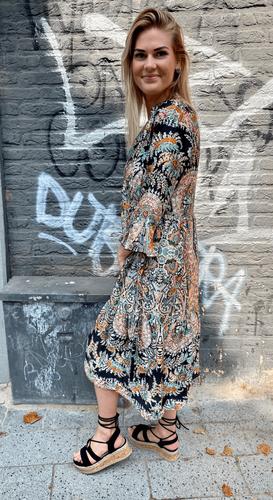 Paisley jurk Nomi Zwart