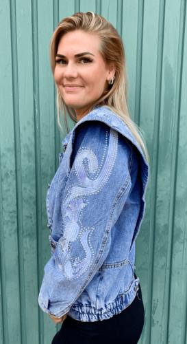 Spijker jas Grace Blauw