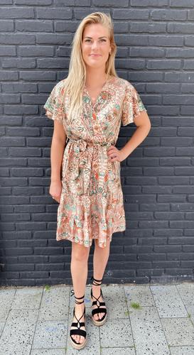 Paisley omslag jurk Mathilde Lichtroze