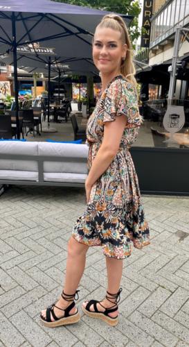 Paisley omslag jurk Mathilde Zwart