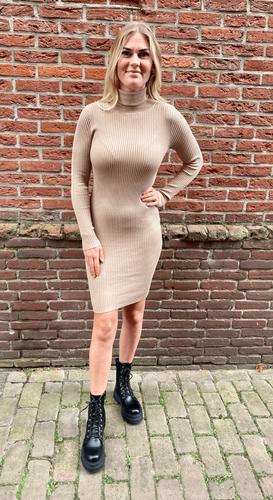 Col jurk Vienna Beige