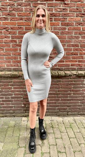 Col jurk Vienna Lichtgrijs