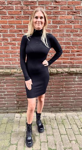 Col jurk Vienna zwart