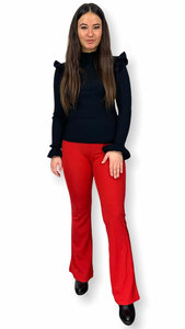 Flared broek Mira rood