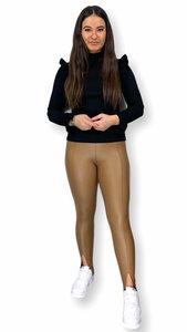 Leatherlook legging split Demi beige