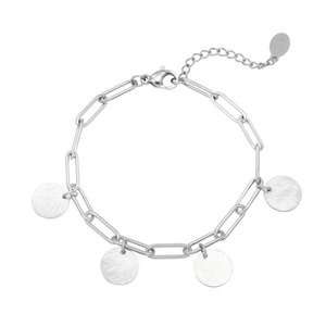Bracelet Coins zilver