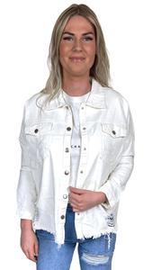Spijker jas Filou wit